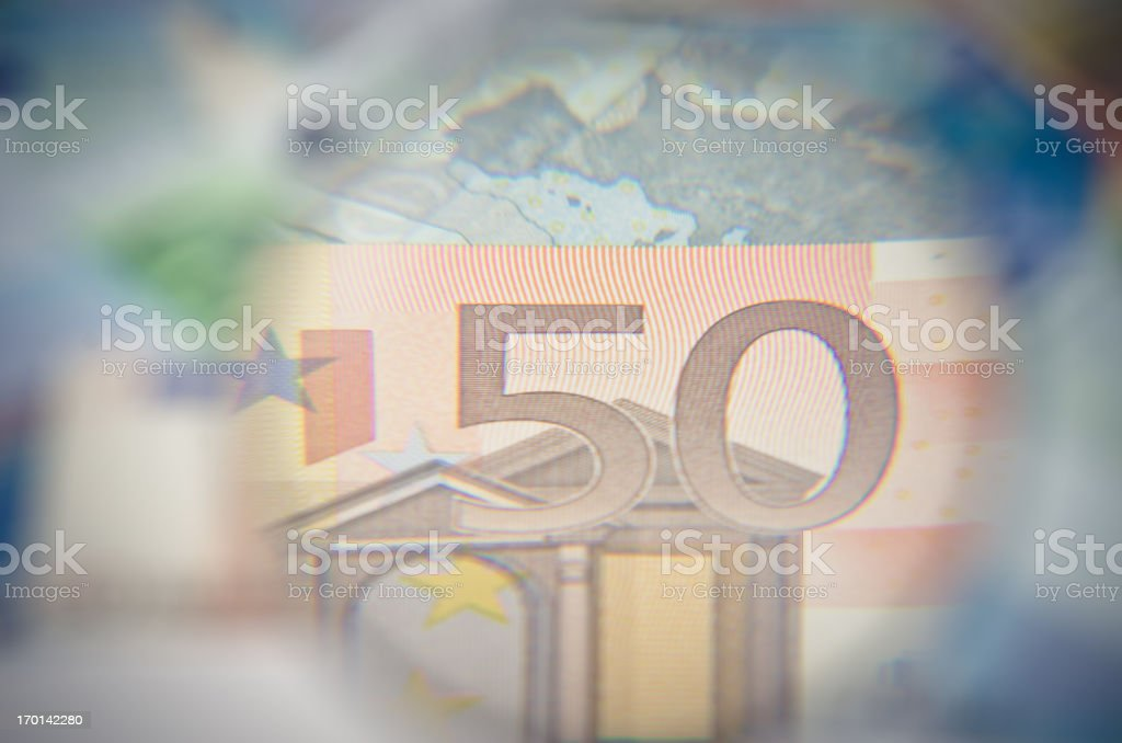 Close up of Euro Currency royalty-free stock photo