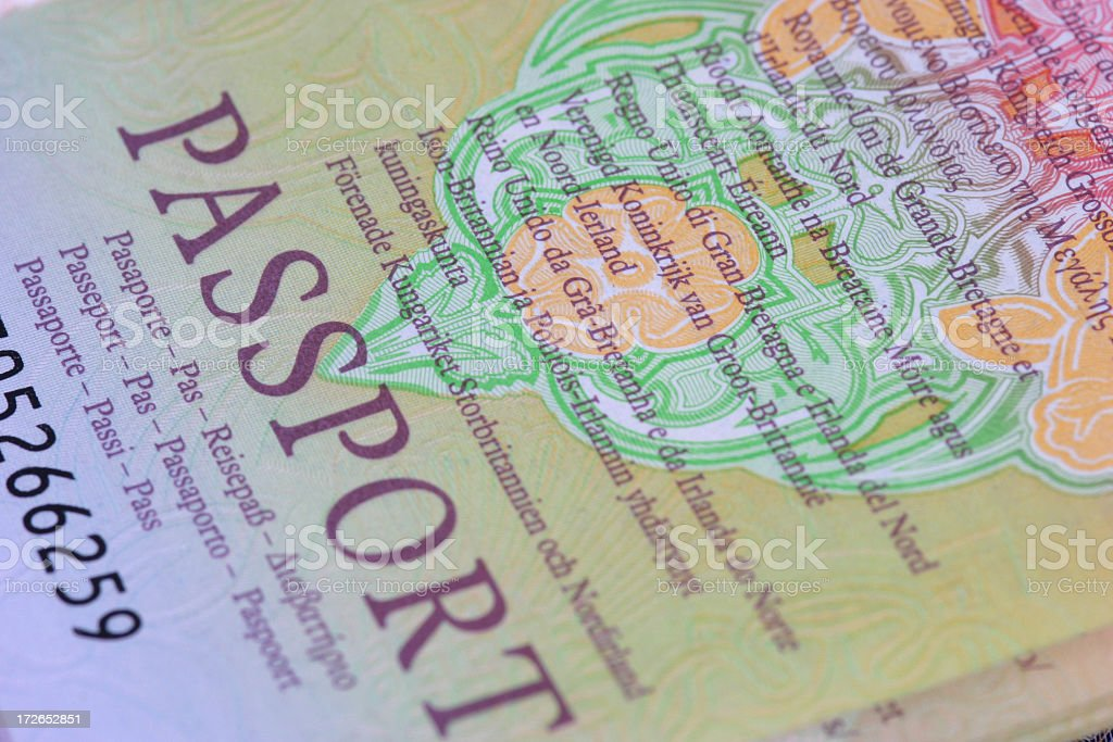 Close up of European union passport royalty-free stock photo