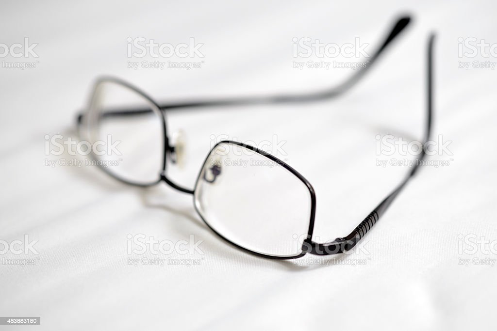 Close up of eye glasses stock photo