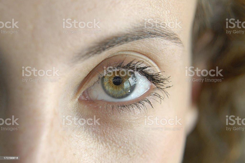 Close up of Eye royalty-free stock photo