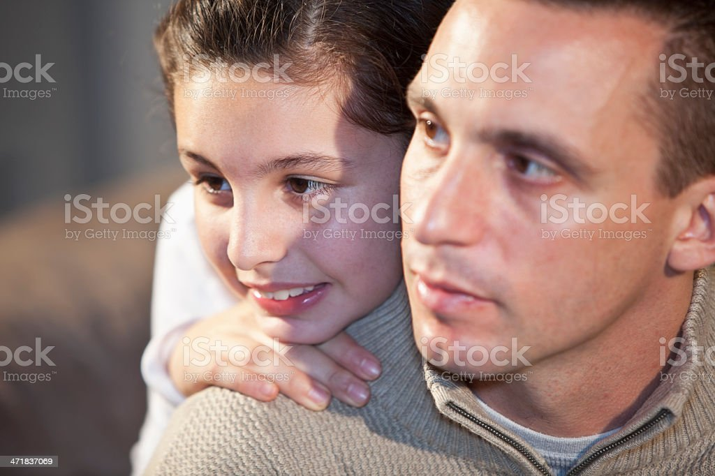 Close up of father and daughter stock photo