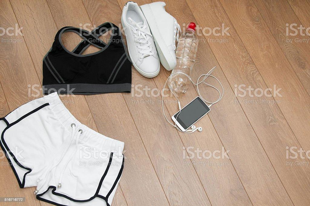 Close up of female sports clothing stock photo