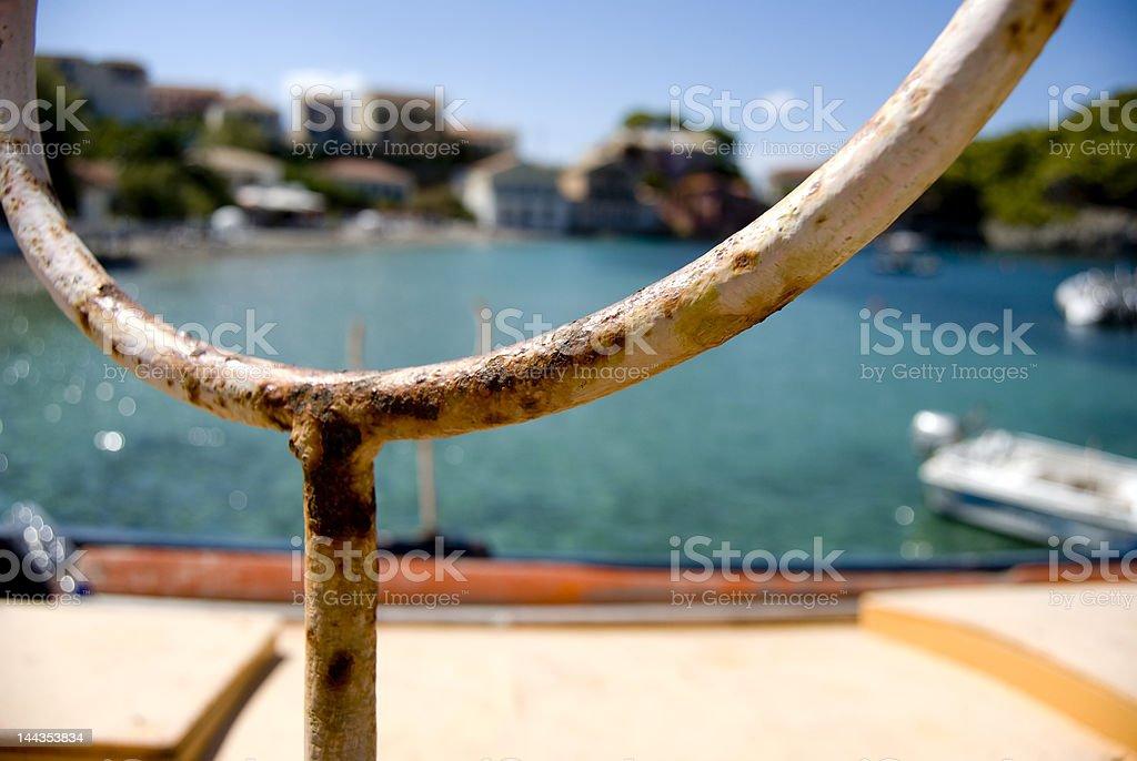Close-up de um barco de pesca na harbour foto royalty-free