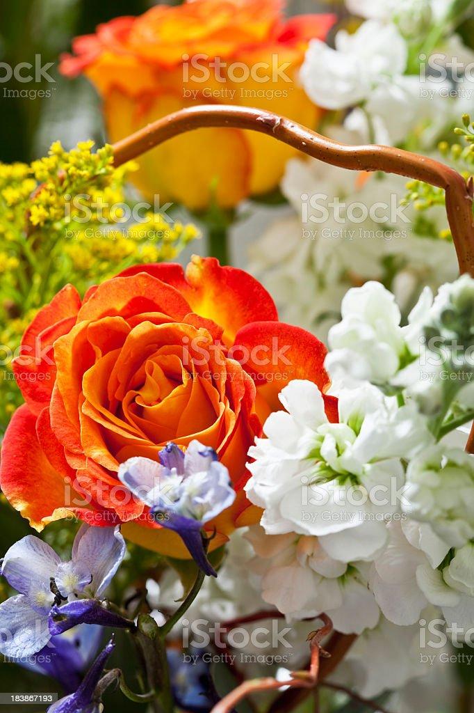 Close up of flower arrangement stock photo