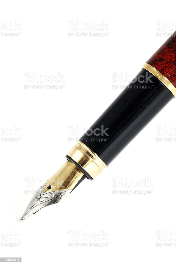 close up of fountain pen royalty-free stock photo