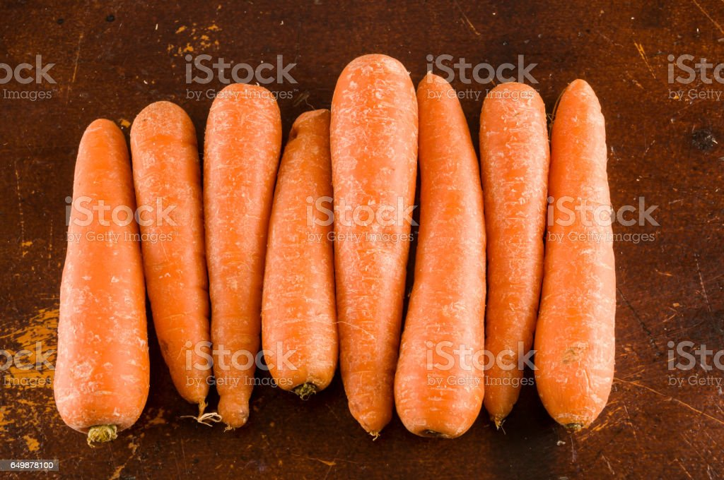 Close up of fresh carrots stock photo