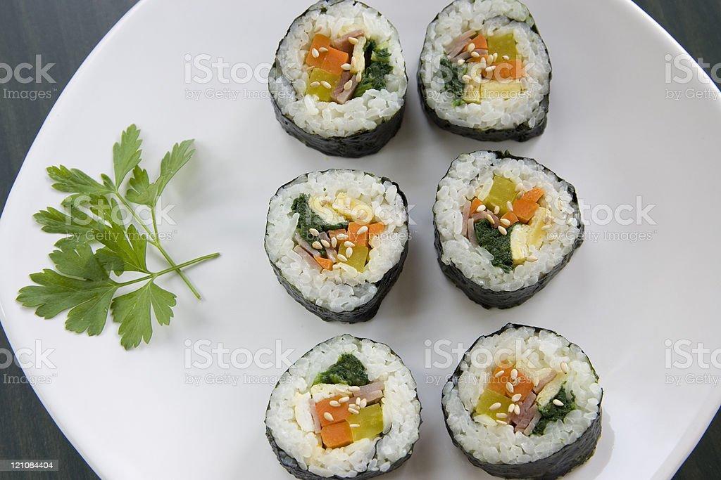 Close up of fresh sushi. royalty-free stock photo