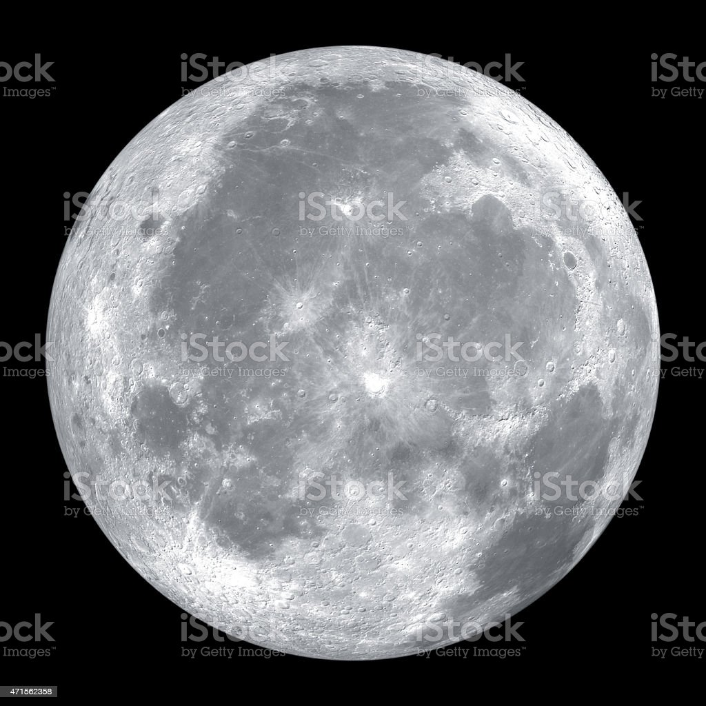 Close up of full moon stock photo