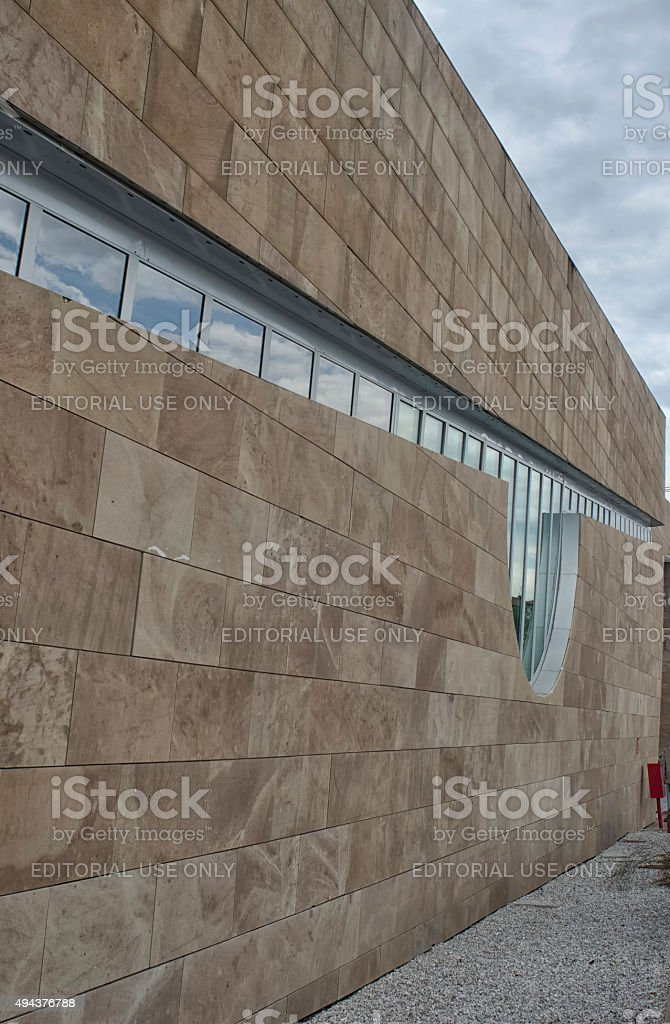 Close up of futuristic architecture stock photo