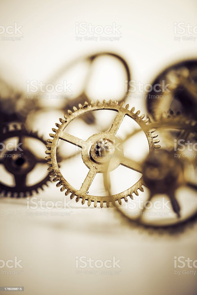 close up of gears stock photo