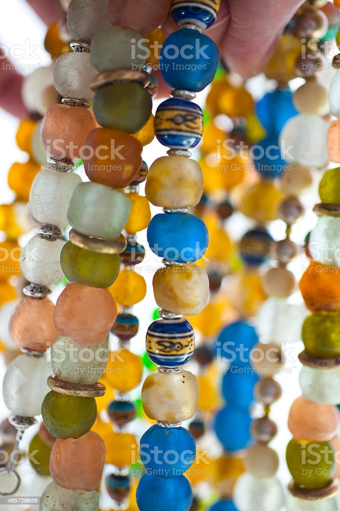 Close up of Glass Beads stock photo