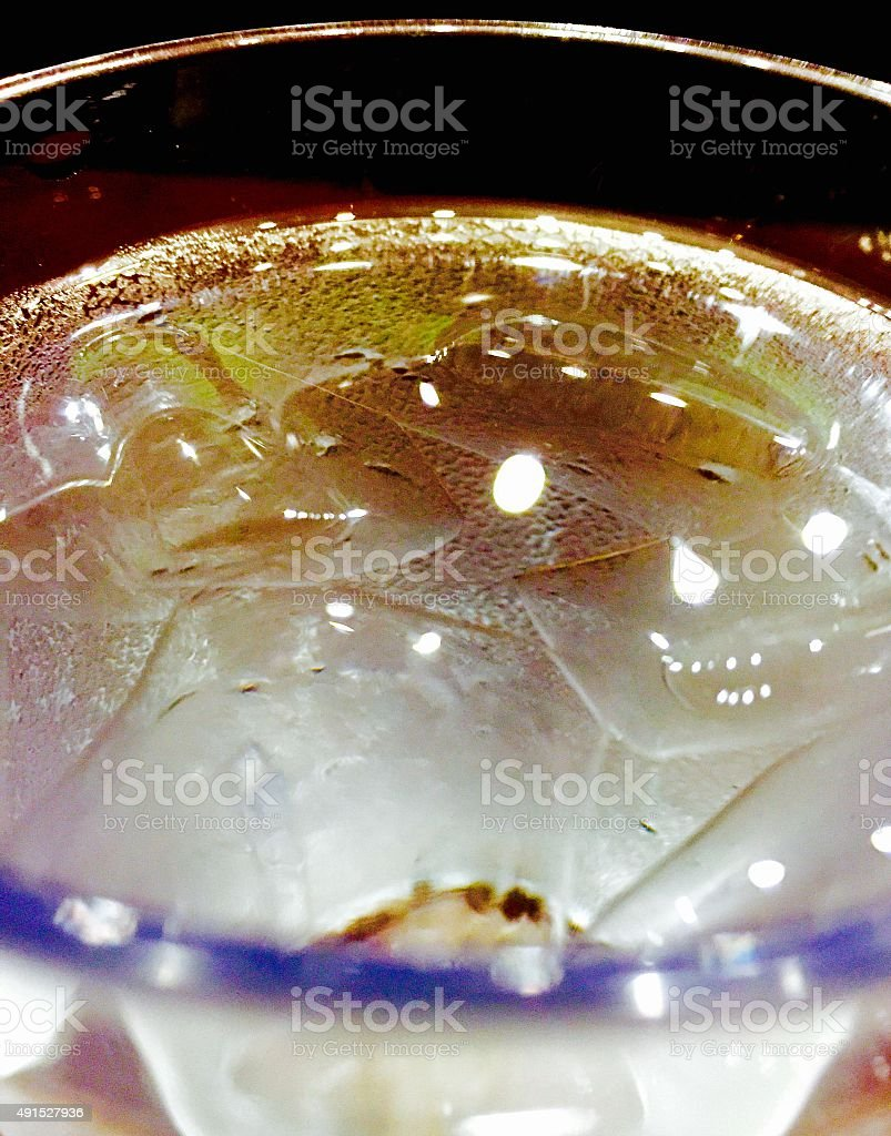 Close up of glass of water with ice royalty-free stock photo