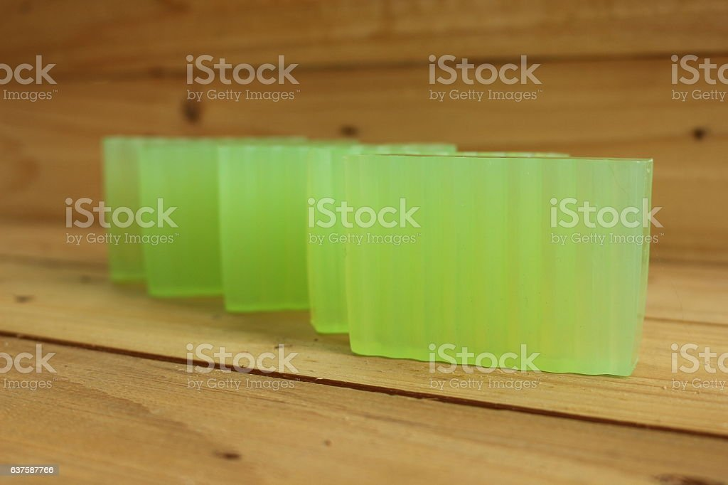 Close up of glycerin soap stock photo