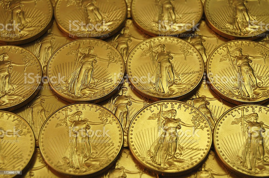 Close Up of Gold royalty-free stock photo