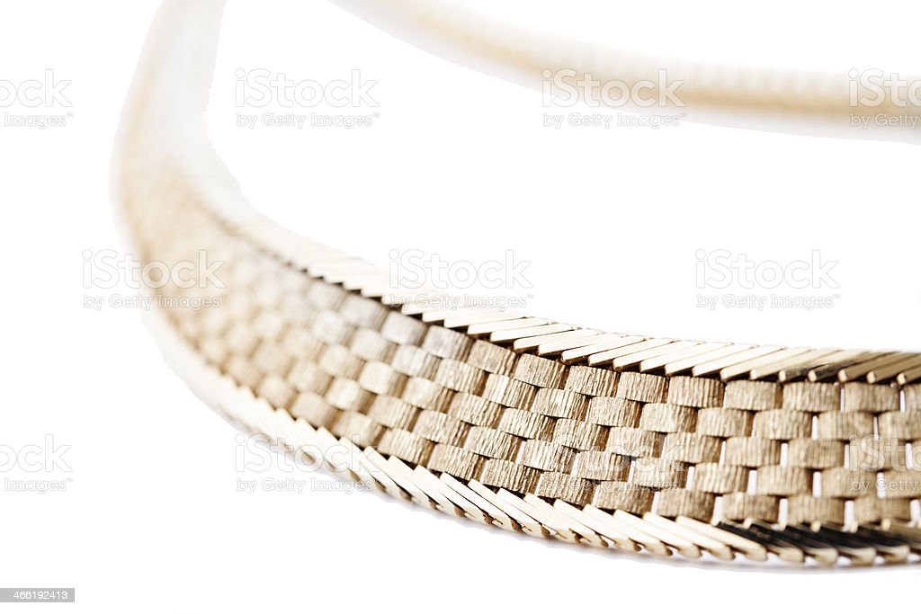 close up of golden necklace royalty-free stock photo