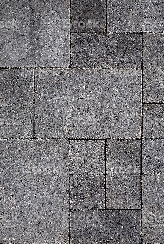 Close up of gray cobble stones royalty-free stock photo