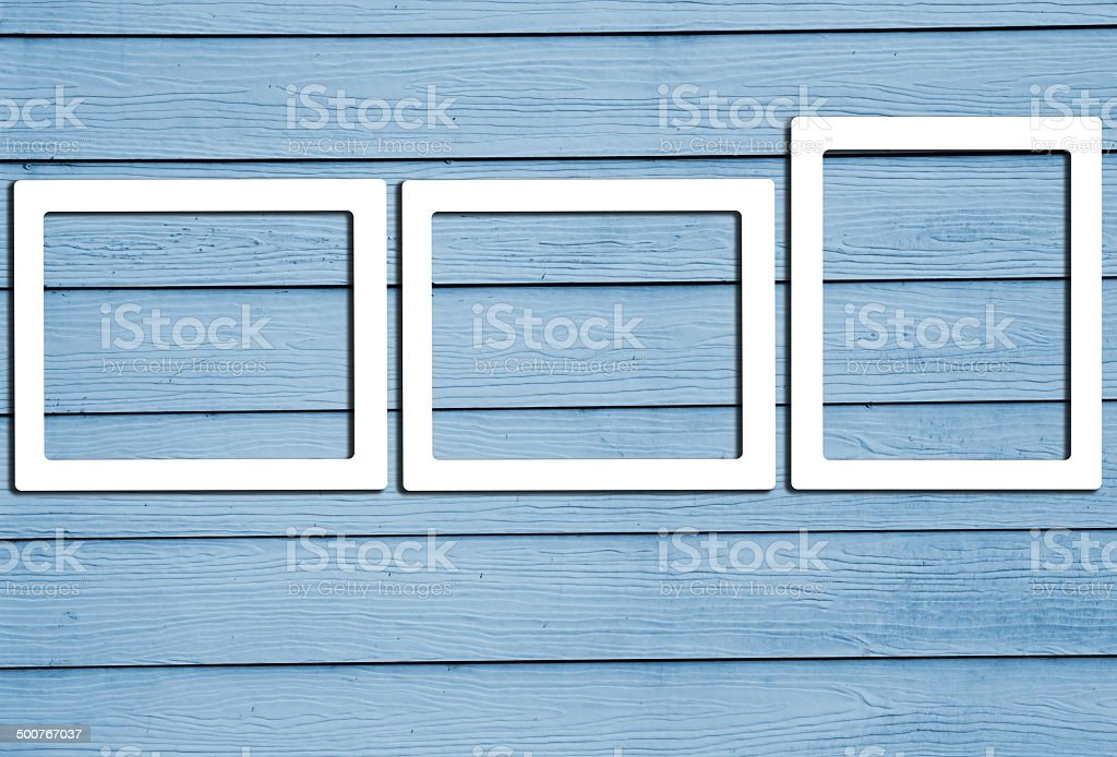 Close up of gray wooden fence panels stock photo
