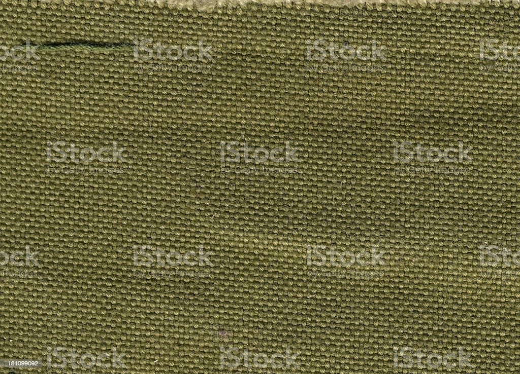 Close up of green army canvas pattern royalty-free stock photo