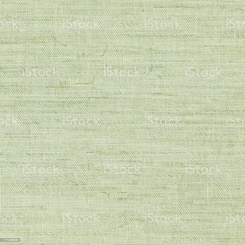 Close up of green burlap texture stock photo