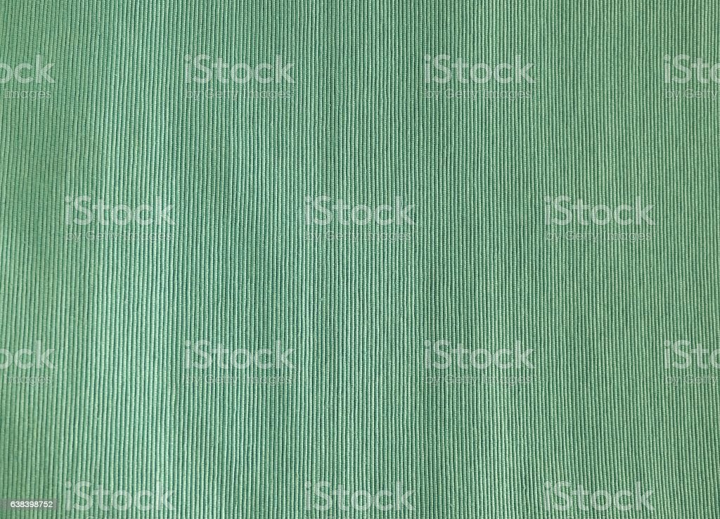 Close Up of Green Cotton Textile Texture stock photo