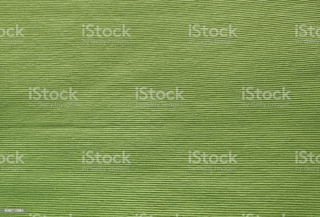 Close Up of Green Olive Cotton Textile Texture stock photo
