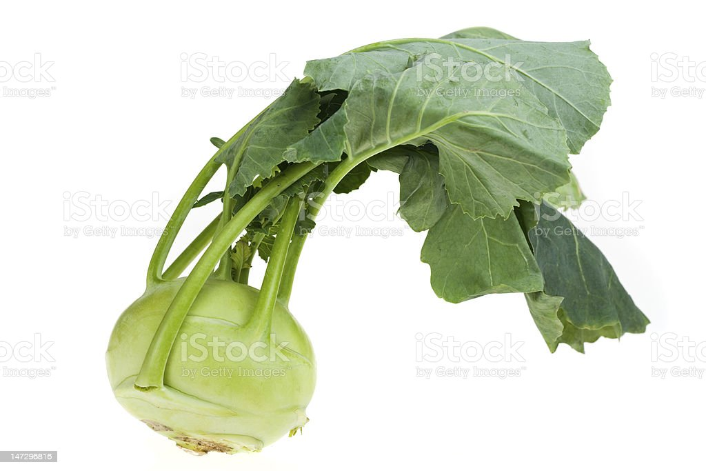 Close up of green turnip vegetable royalty-free stock photo