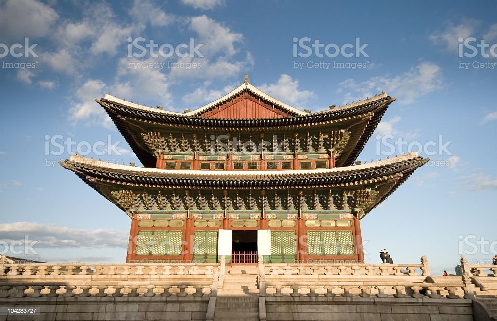Close up of Gyeongbokgung Palace in South Korea royalty-free stock photo