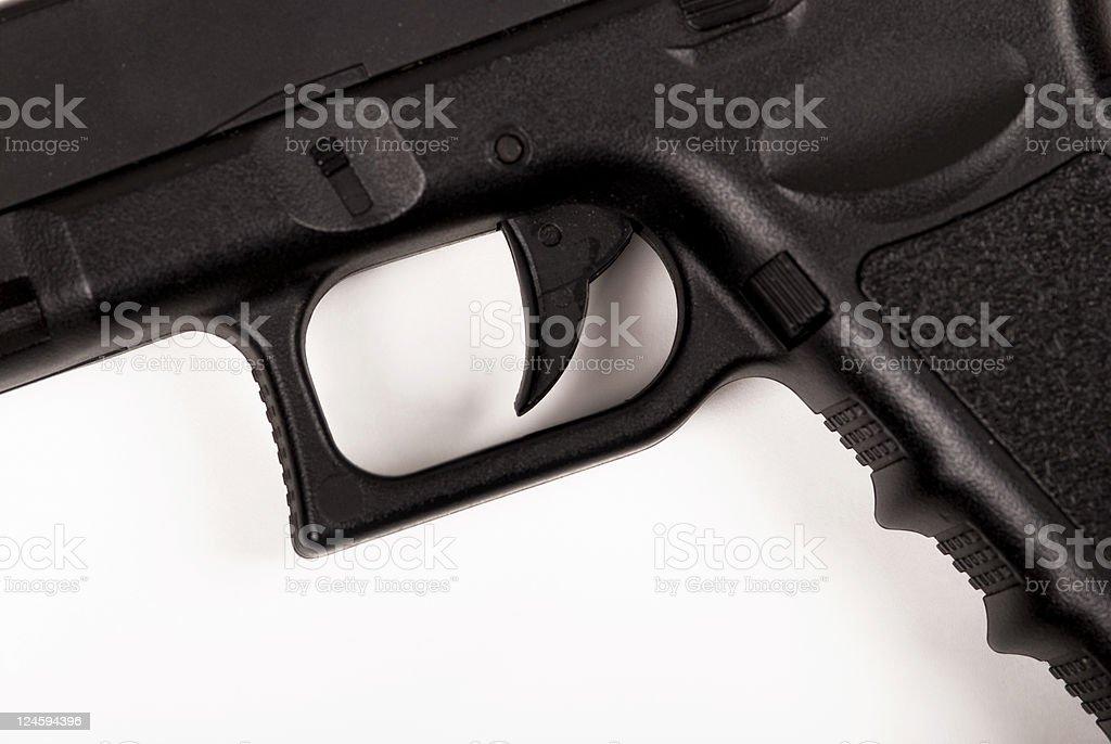 Close up of handgun royalty-free stock photo