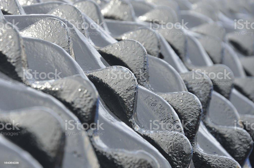 Close up of harrow stock photo