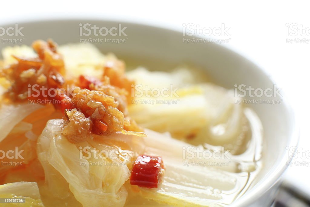 close up of hot pot chinese cabbage royalty-free stock photo