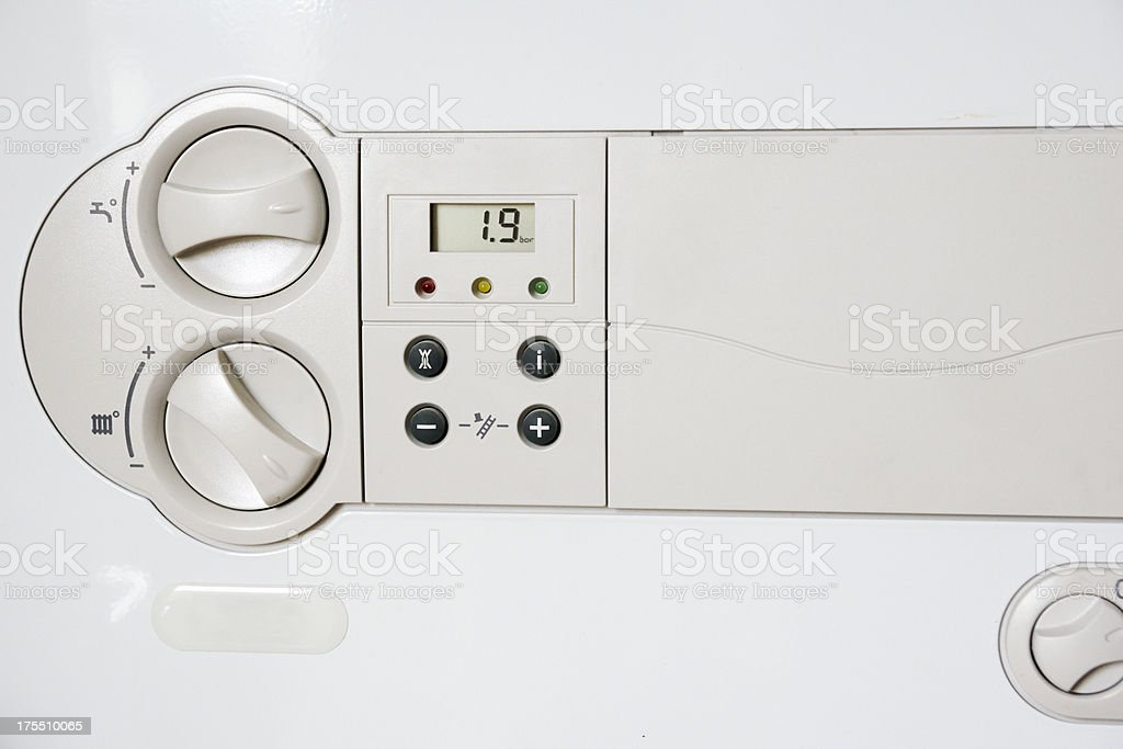 Close up of HR- gas boiler royalty-free stock photo