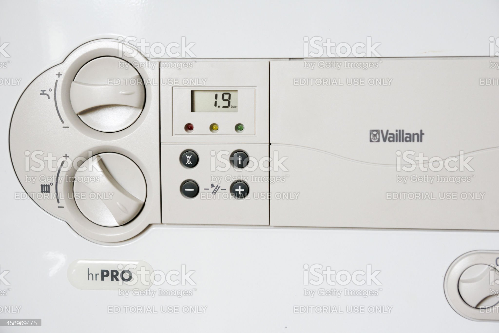Close up of HR- gas boiler, Vaillant royalty-free stock photo