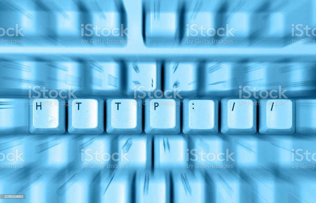 close up of Http Keyboard stock photo