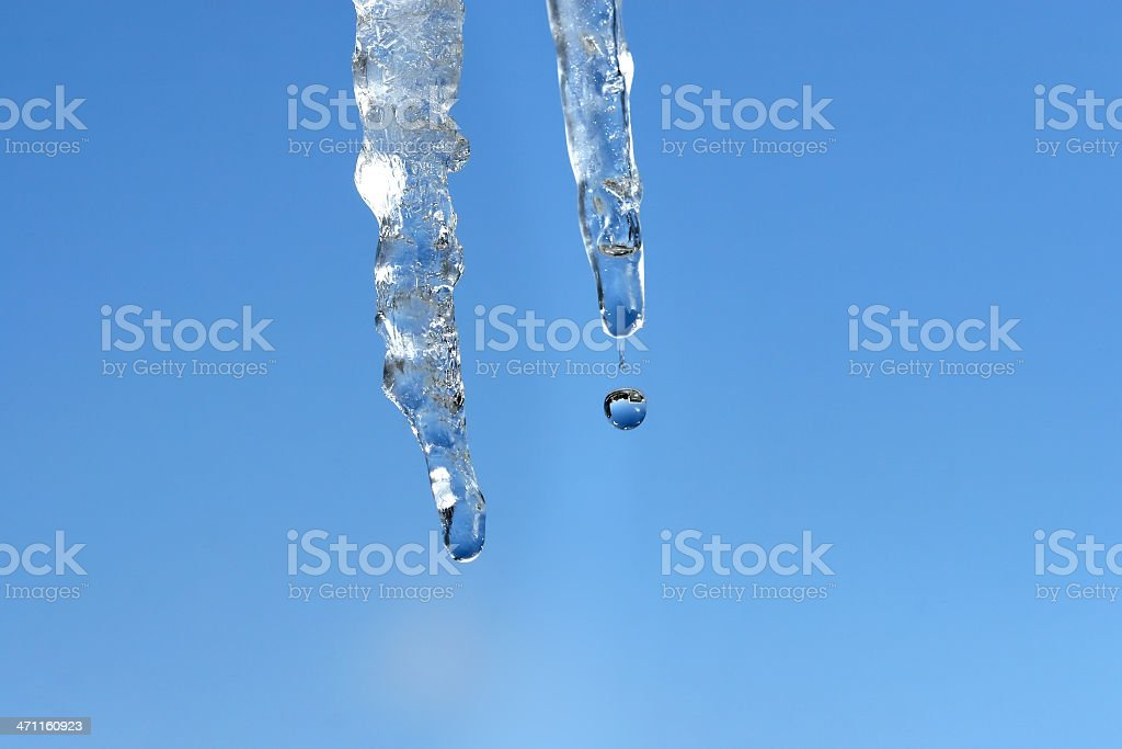 Close up of icicles stock photo