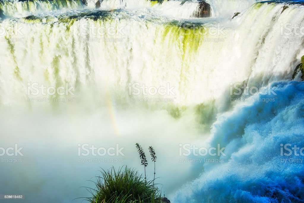 Close Up of Iguazu Falls, Argentina stock photo