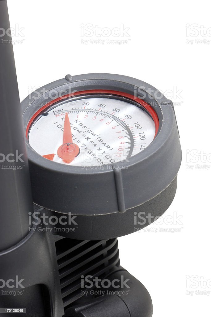 Close up of inflation pressure gauge. royalty-free stock photo