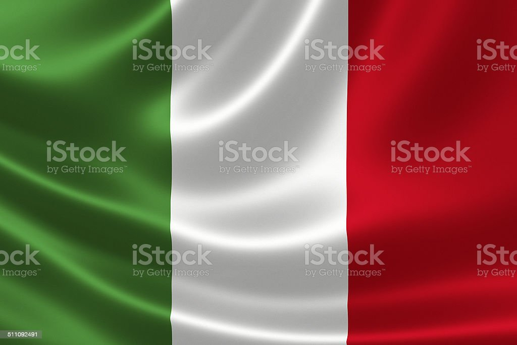 Close up of Italy's Flag stock photo