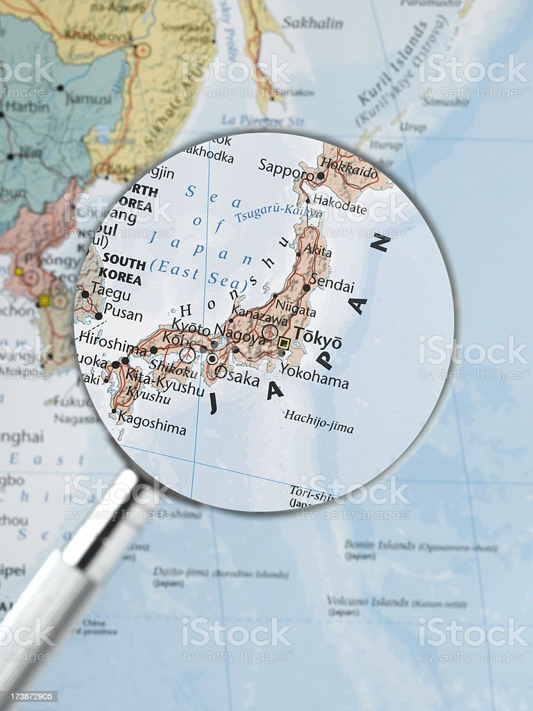 close up of japan royalty-free stock photo