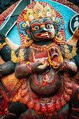 Close up of Kala Bhairav Statue.