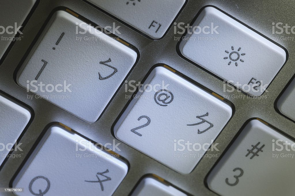 close up of keyboard royalty-free stock photo