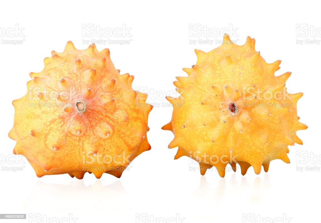Close up of kiwano fruits stock photo