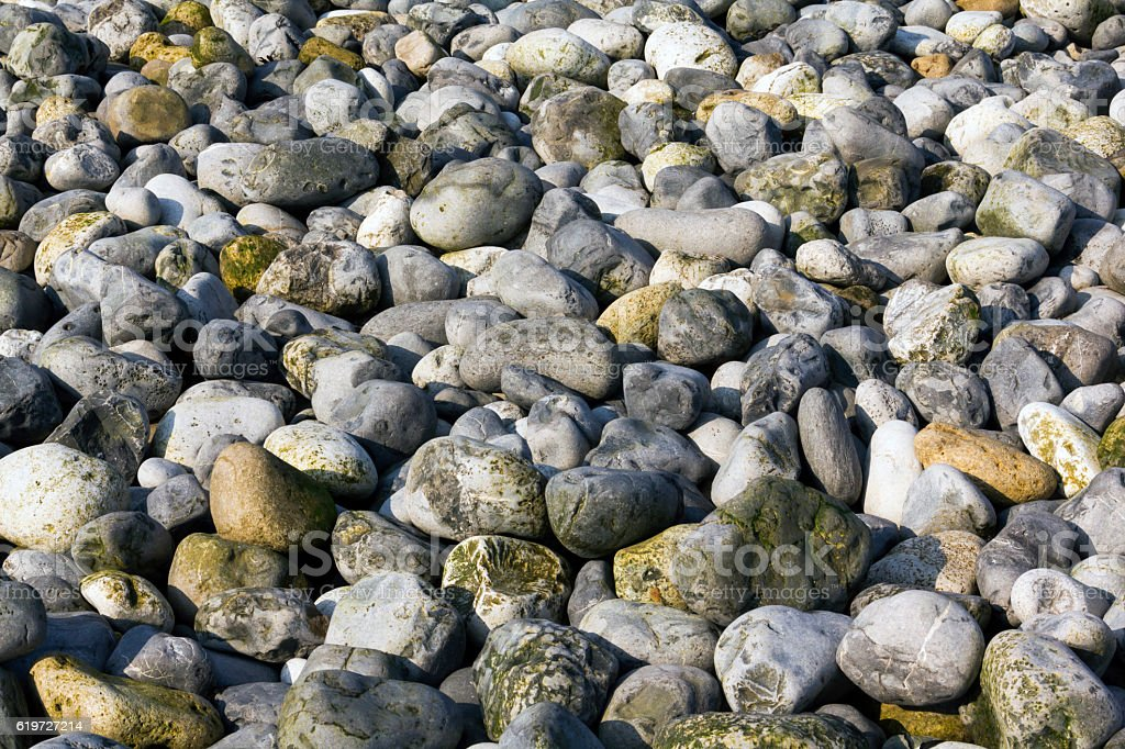 Close Up Of Large Pebbles stock photo
