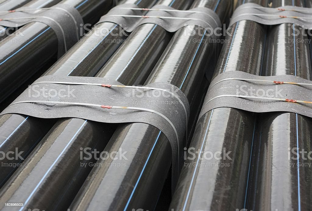 close up of large tubes stock photo