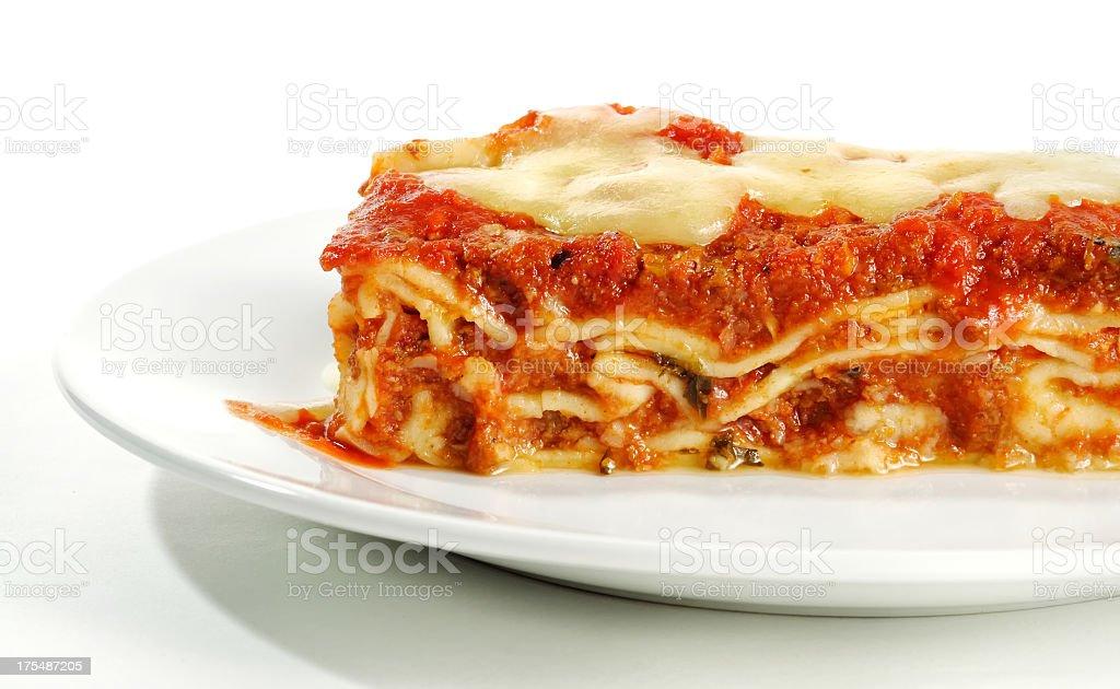 Close up of lasagna stock photo