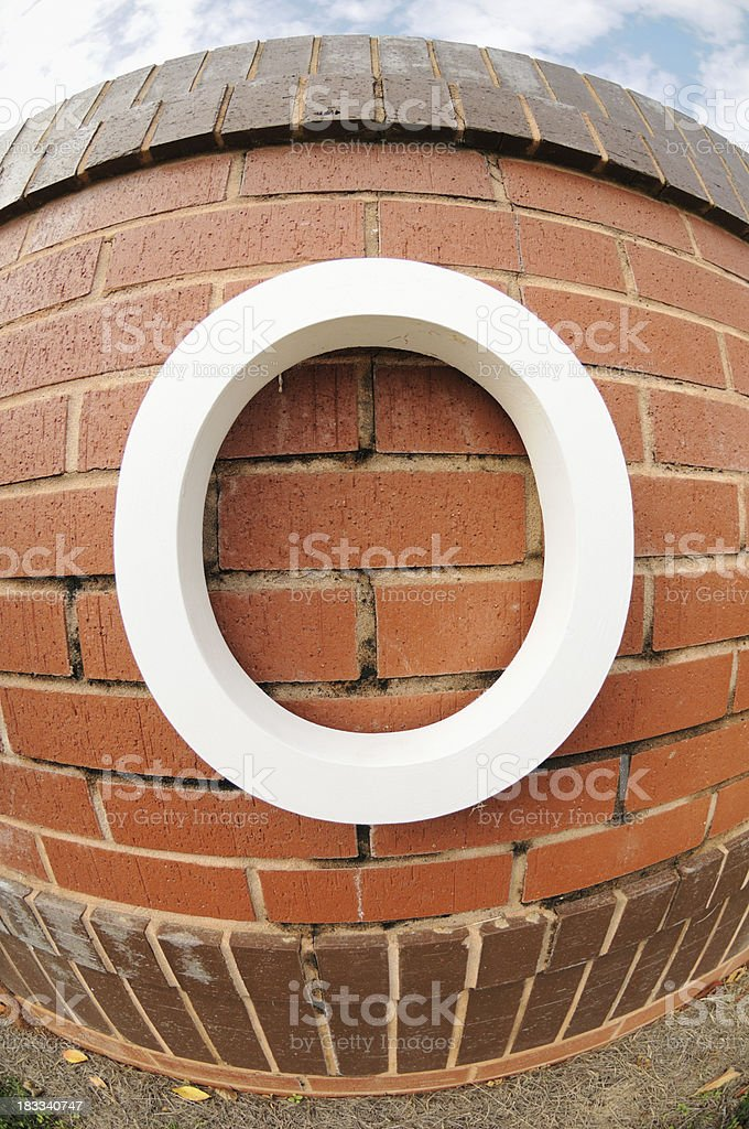 Close up of Letter O sign royalty-free stock photo