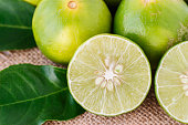 close up of lime slice