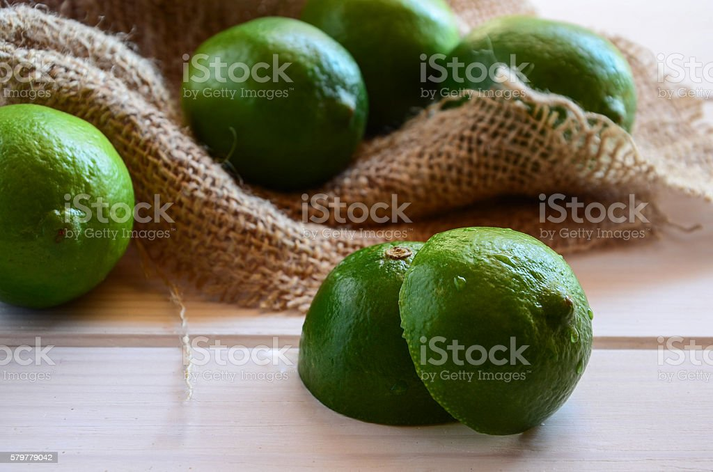 Close up of Limes stock photo