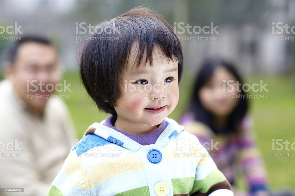 close up of lovely baby girl walking royalty-free stock photo