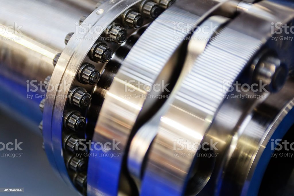A close up of machine in detail stock photo