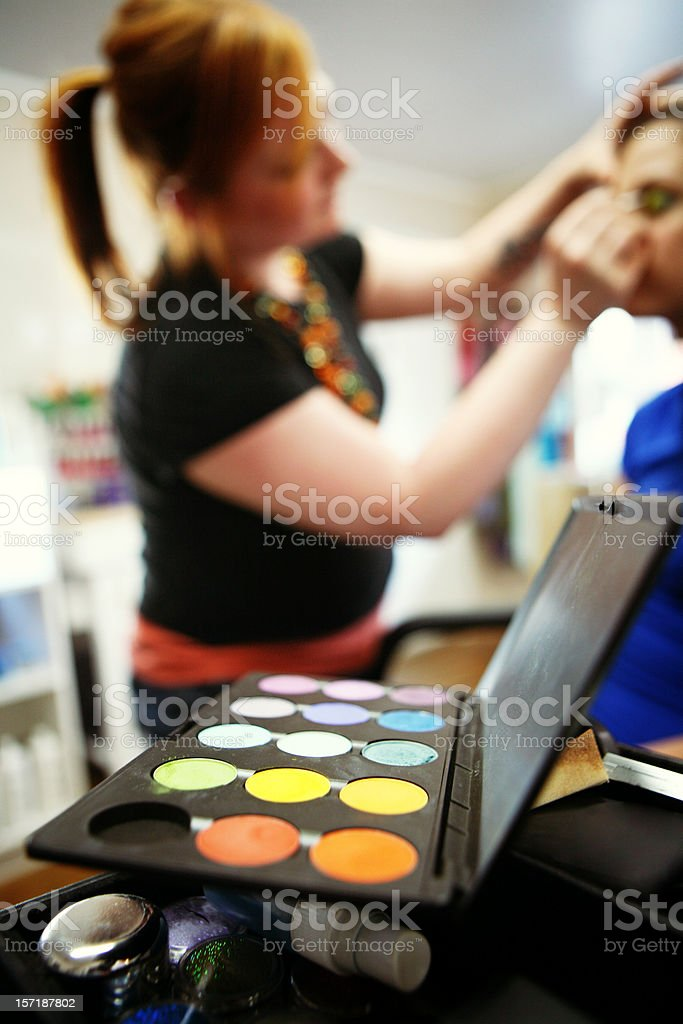 Close Up of Makeup Eyeshadow Pallet royalty-free stock photo